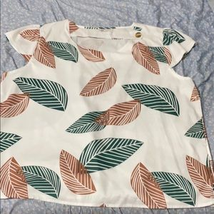 Green and brown leaf shirt